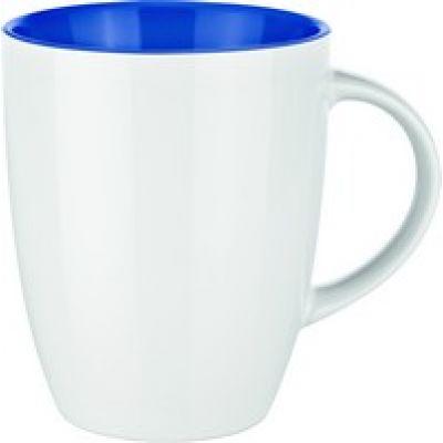 0353 Фарфоровая кружка Elite Inside белая/синяя
