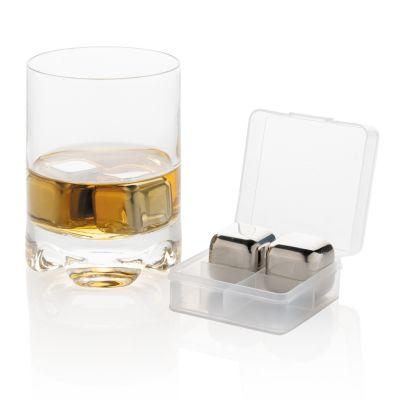 Кубики из нержавеющей стали для охлаждения напитков, 4 шт.