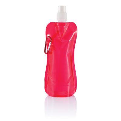 Складная бутылка для воды, 400 мл, красный