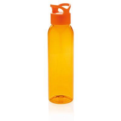 Герметичная бутылка для воды из AS-пластика, оранжевая