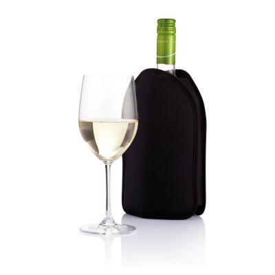 Термочехол для бутылки вина, черный