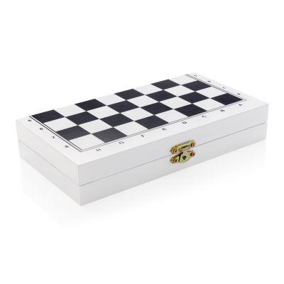 Набор настольных игр 3 в 1 в деревянной коробке