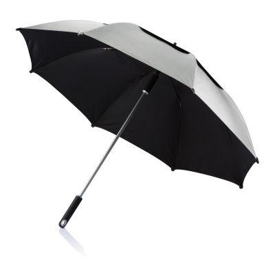 Зонт-трость антишторм Hurricane 27, серый