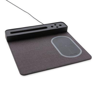 Коврик для мышки с беспроводным зарядным устройством, 5W и USB