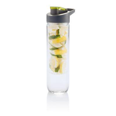 Бутылка для воды Tritan с контейнером для фруктов, 800 мл, зеленый