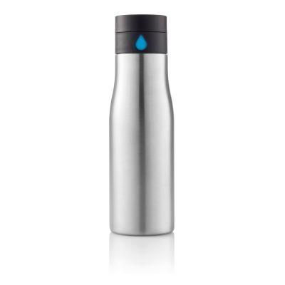 Бутылка для воды Aqua, серебряная
