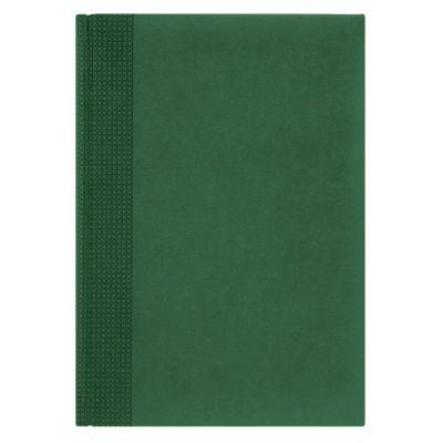 Недатированный ежедневник VELVET 145x205 мм без календаря, зеленый, блок сине-черная графика