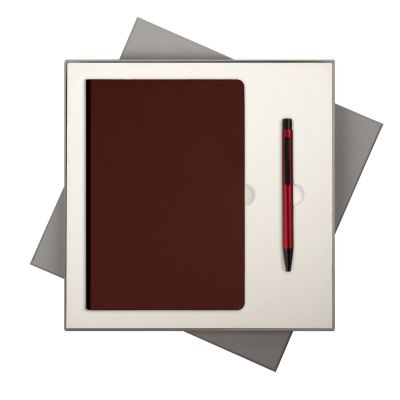 Подарочный набор Portobello/Spark бургунди (Ежедневник недат А5, Ручка)