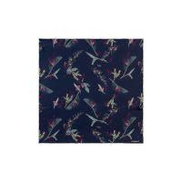 Шелковый платок Iris Navy
