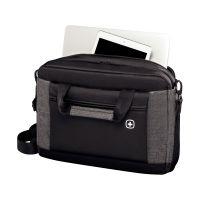 Портфель для ноутбука 16'' WENGER Underground, черный/серый, полиэстер, 43 x 9 x 31 см, 9 л