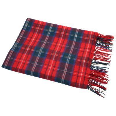Плед Эдинбург, красный/синий