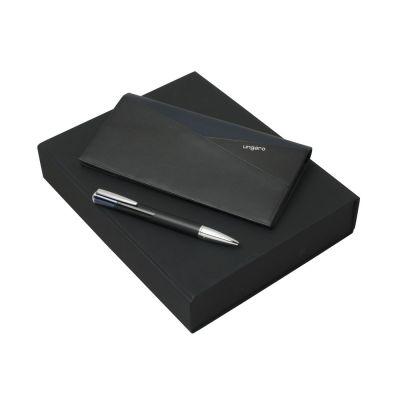 Подарочный набор Lapo: дорожный кошелек, ручка шариковая. Ungaro