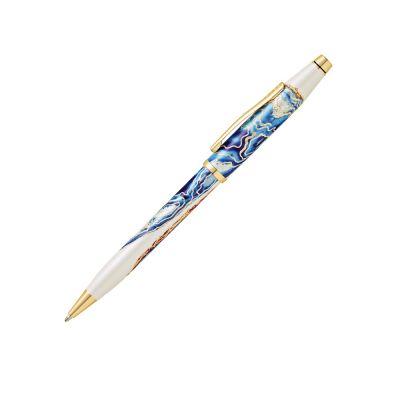 Шариковая ручка Cross Wanderlust Malta, белый, синий