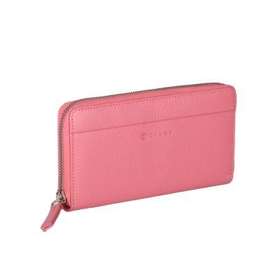 Кошелёк Cross Colors Flamingo, кожа наппа, фактурная, цвет розовый