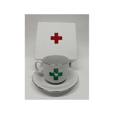 Чайная пара фарфоровая Фармацевт