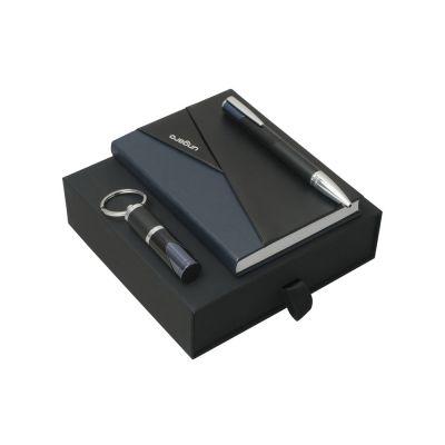 Подарочный набор Lapo: блокнот А6, ручка шариковая, брелок. Ungaro
