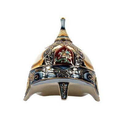 Штоф Шлем (цветной с золотом), 3л
