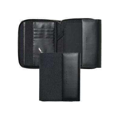 Папка для участника конференции формата А5 Advance Fabric Dark Grey. Hugo Boss