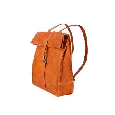 Рюкзак-сумка KLONDIKE DIGGER Mara, натуральная кожа цвета коньяк, 32,5 x 36,5 x 11 см