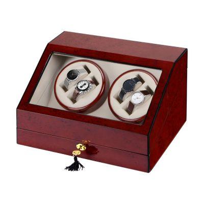 Шкатулка для часов с автоподзаводом Цюрих, красное дерево
