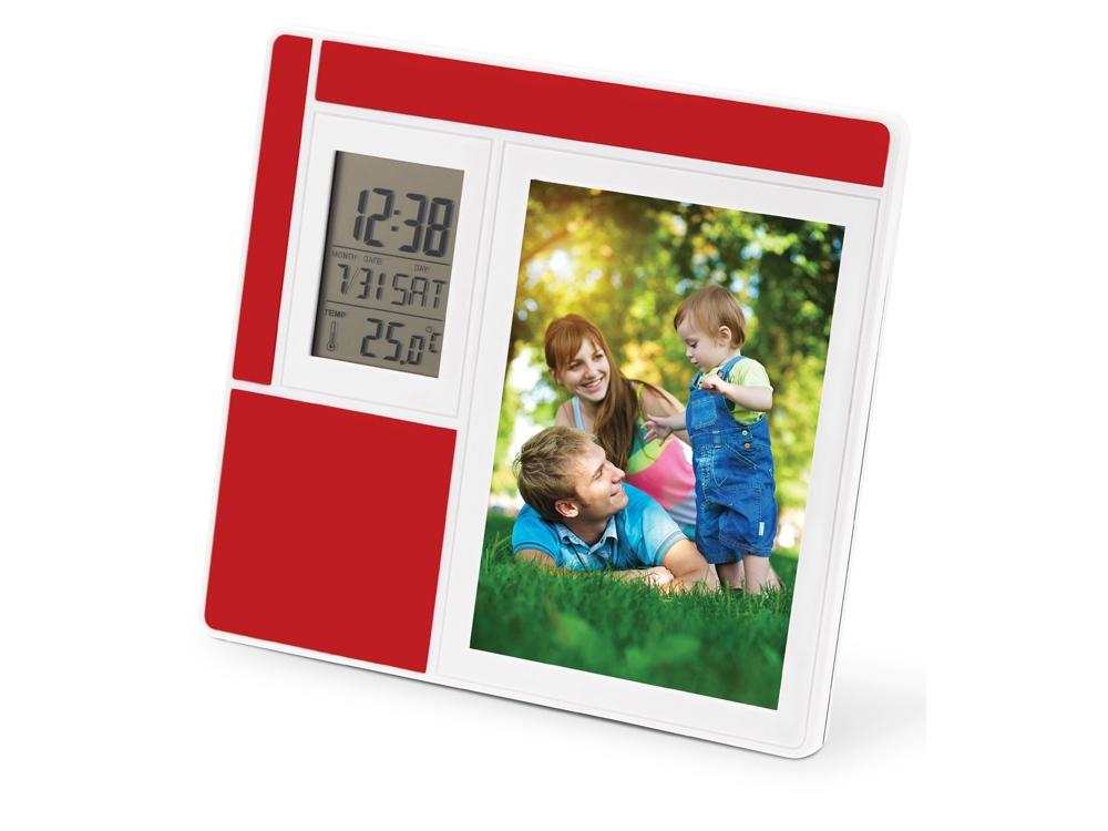 электронные рамки для фото с часами аккуратно монохромном варианте